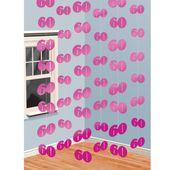 Függődekoráció rózsaszín 60