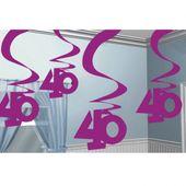 """Függő spirális """"40"""" pink"""