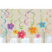 Függő spirális Hawaii virágok