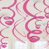 Függő spirális rózsaszín