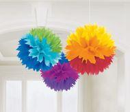 Függődekoráció színes gömbök