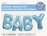 Léggömb banner Baby kék