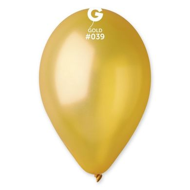 Léggömb metál arany