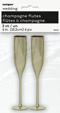 Mini dekorációs Pezsgőspoharak arany