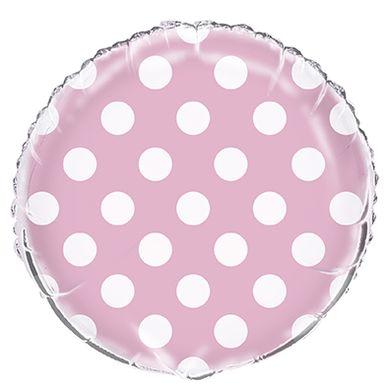 Fólia léggömb dots baby pink