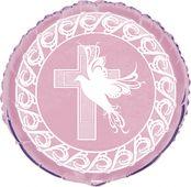 Fólia léggömb rózsaszín kereszt