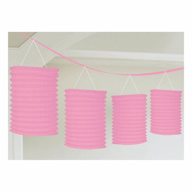 Lampionfüzér világos rózsaszín