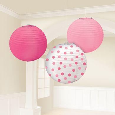 Lampion baby girl dots