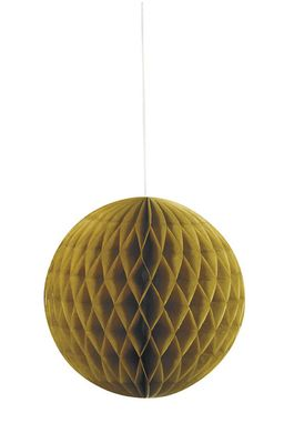 Méhsejtpapír gömb Honeycomb arany