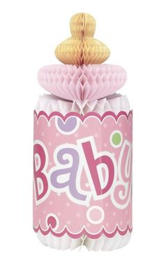 Papír cumisüveg baby girl dots