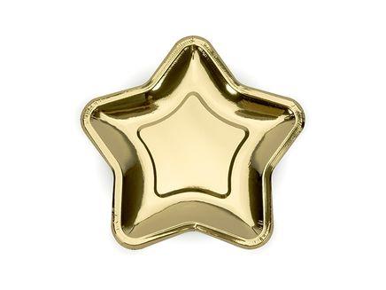 Tányér Star arany