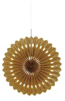 Legyező dekoráció arany