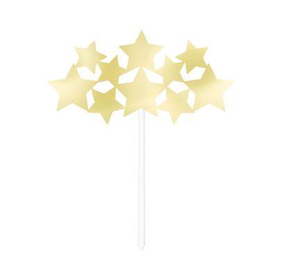 Betűzhető dekoráció Stars arany