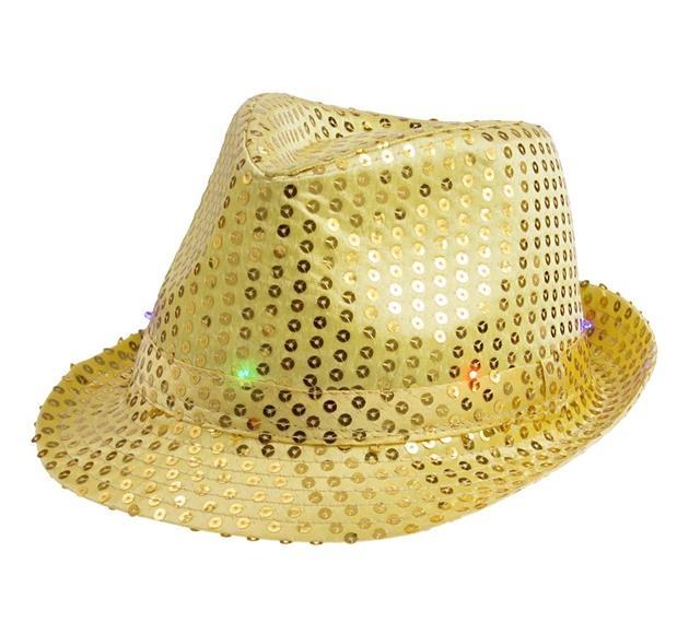 Világító kalap arany - PARTYSPIRIT.HU 687cf1d117